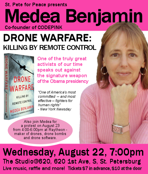 Medea Benjamin, St. Petersburg, FL, Drone Warfare: Killing by Remote Control