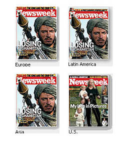 Newsweek Oct 2 2006 Losing Afghanistan cover different in the U.S.
