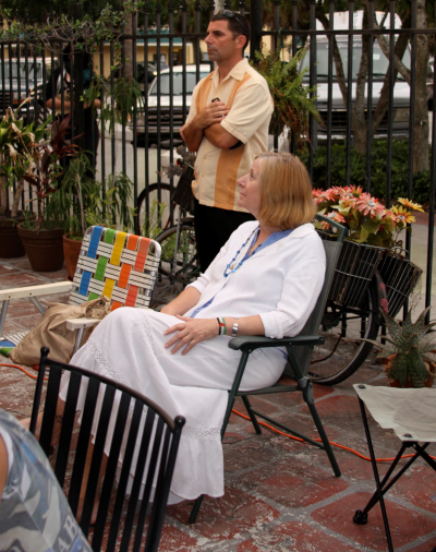 Cindy Sheehan speaks in St. Petersburg, FL, June 2009, NOVA 535 and Cafe Bohemia